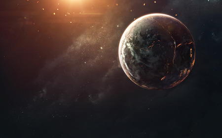 Deep space, beauty of endless cosmos. Science fiction wallpaper.