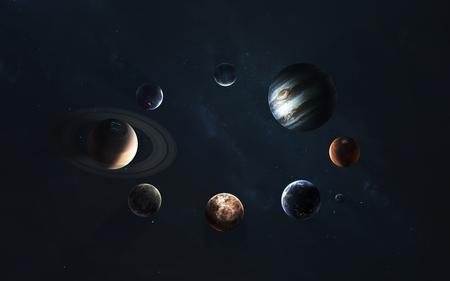 Système solaire. Symbole de l'exploration spatiale.