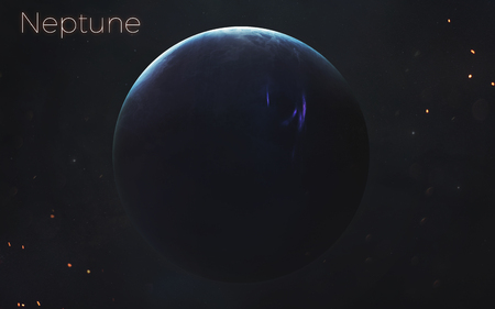Neptune. Realistic planets of Solar system. Фото со стока