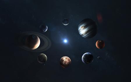Solar system. Symbol of space exploration. Stock Photo