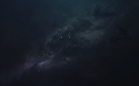 Nebula, beautiful science fiction wallpaper with endless deep space.