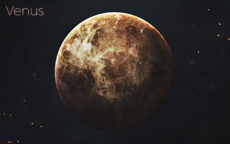 Mercury. Realistic planets of Solar system.