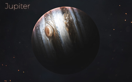 Jupiter. Realistic planets of Solar system. 写真素材