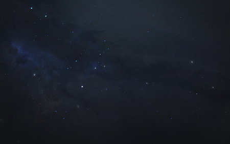 Starfield in deep space. Science fiction texture and wallpaper.
