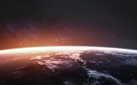 Incredibile bellissimo pianeta Terra con luce fredda e calda.