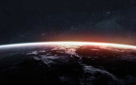 Planeet aarde. Sciencefiction kunst.
