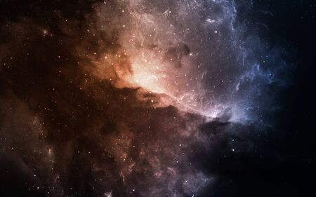 Starfield in deep space