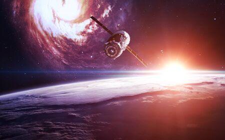 Vaisseau spatial en orbite terrestre