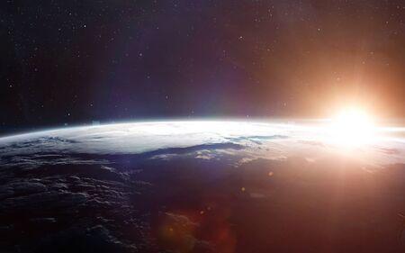 Blick auf die Erde aus dem Weltraum