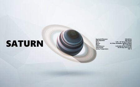 Saturn. Minimalistic style 免版税图像
