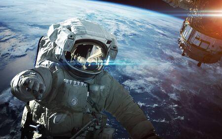 Astronaut in outer space Archivio Fotografico