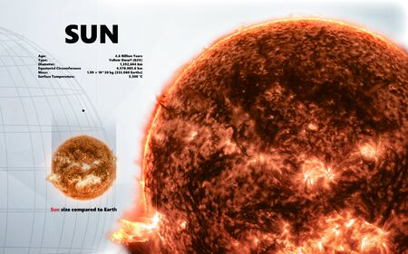 Sun. Minimalistic style 免版税图像