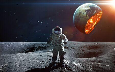 Planetenexplosion. Von der NASA eingerichtete Elemente Standard-Bild
