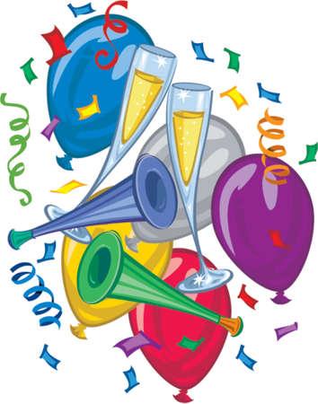 新しい年のパーティー風船
