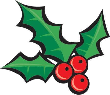 Christmas Holly Illusztráció