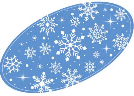 楕円形の雪  イラスト・ベクター素材