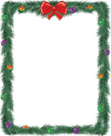 Weihnachten Frame - 4,25 x 5,25 Illustration