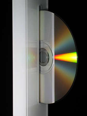 A Compact Disc ausgeworfen wird von Computern mit CD-ROM-Laufwerk Lizenzfreie Bilder
