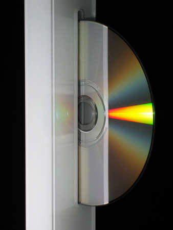 dvdr: A Compact Disc being ejected out of a computers CD Rom drive