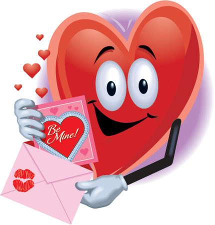 Valentinstag Herz mit Valentine Card