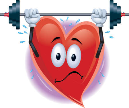 Heart Man Aufhebung Gewichte  Illustration