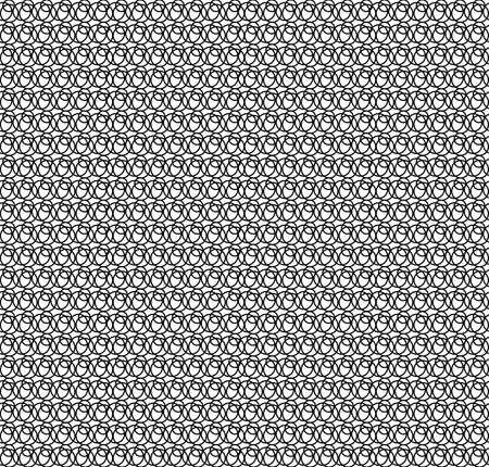 白い背景の黒いパターン円。繰り返しまたは目に見える継ぎ目なしタイル張りすることができます。