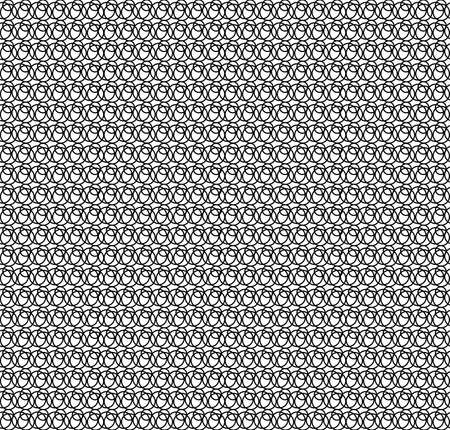 any: Pattern black circles against white background. It can be repeated or tiled without any visible seams Illustration