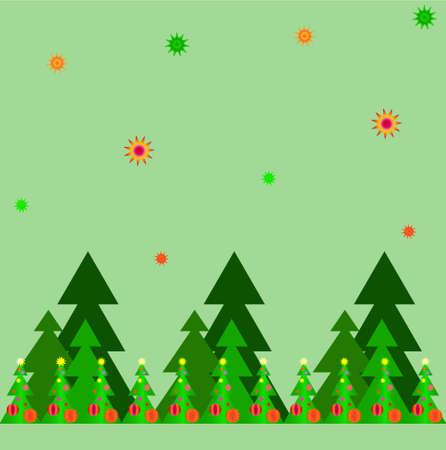 クリスマス緑の松パターン 2 抽象化します。
