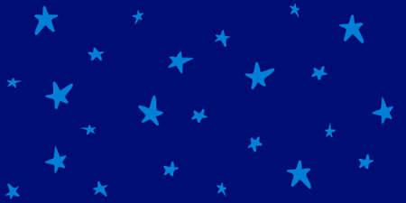 青い空パターンに青い星。