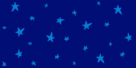stelle blu: Stelle blu sul modello cielo blu. Vettoriali