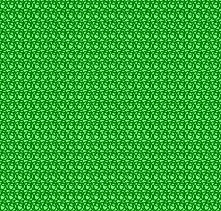 緑の円のフェンスのパターン  イラスト・ベクター素材