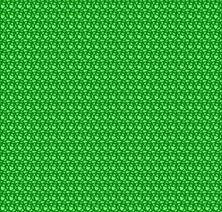 whorl: Pattern of green circles fence