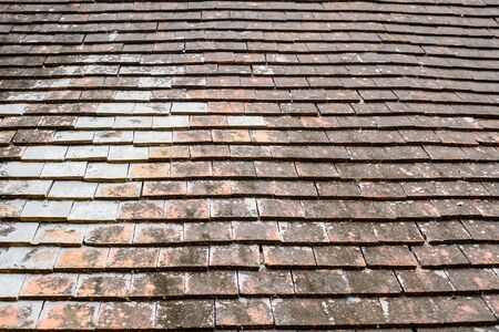 slate roof: old roof tiles