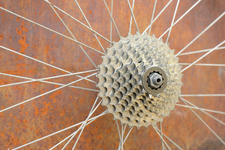 bicycle gear: bicycle gear with rust background