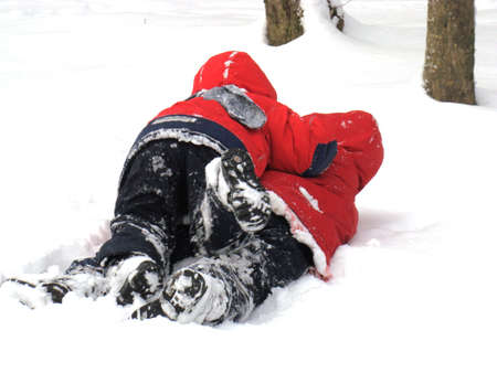 drollery: Wrestling at snow Stock Photo