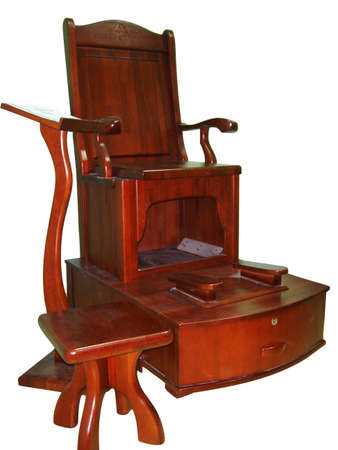 Wooden shoeshine chair Stock Photo - 2198187