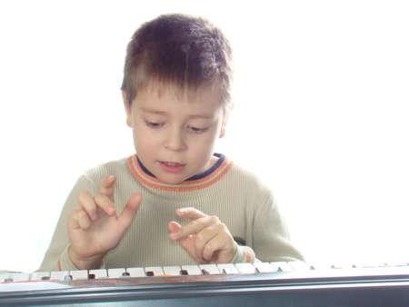 Tocando el piano  Foto de archivo - 2246732