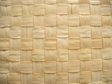 Wicker straw mat close-up pattern
