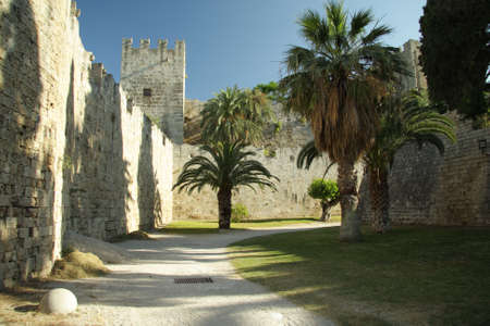 sity: Rhodes old sity castle backyard