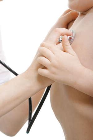 audition: Stetoskop audition dzieci Fotografia bliska twarz