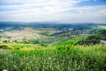 Valley of Chiragchai in foothills of Samur mountain range Russia Stock Photo - 5155710