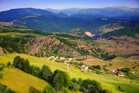 Kartas village located in Caucasus view from uphills Stock Photo - 5155718