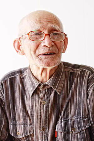 Portrait of senior in eyeglasses selective focus on eyes Stock Photo - 5638180
