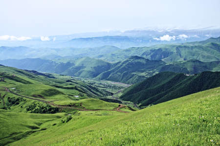 Kurah-chai valley at the foot of Great Caucasus range mountains Stock Photo - 6423090