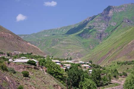 Northern part of Kurah village in summer Daghestan Russia Stock Photo - 7500580
