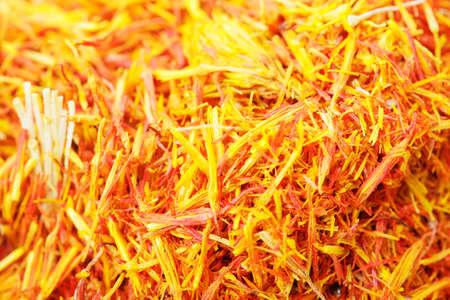 Saffron leaves spice closeup photo for background usage Stock Photo - 8176588