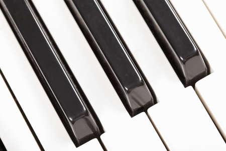 Piano keyboard closeup photo above view Stock Photo - 9223514