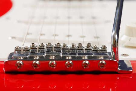 tremolo: Electric guitar bridge closeup photo