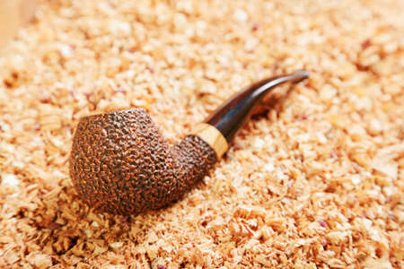 unpolished: Briar smoking pipe with unpolished bowl Stock Photo