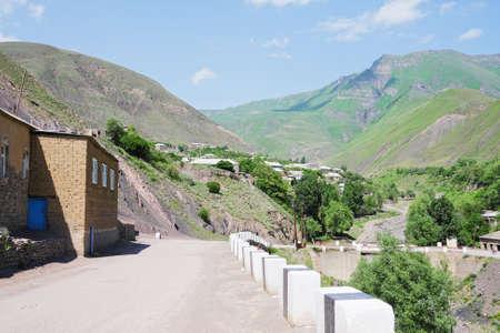 Road of Kurah village in summer Daghestan Russia Stock Photo - 9261324